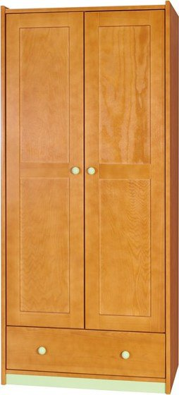 BOROVICE D-SA2 šatní skříň | barva: dol moření bílá,Barva doplňků: malina (Doprava ZDARMA)