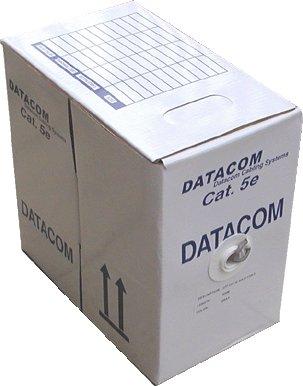 DATACOM UTP drát CAT5E PE 305m box černý OUTDOOR