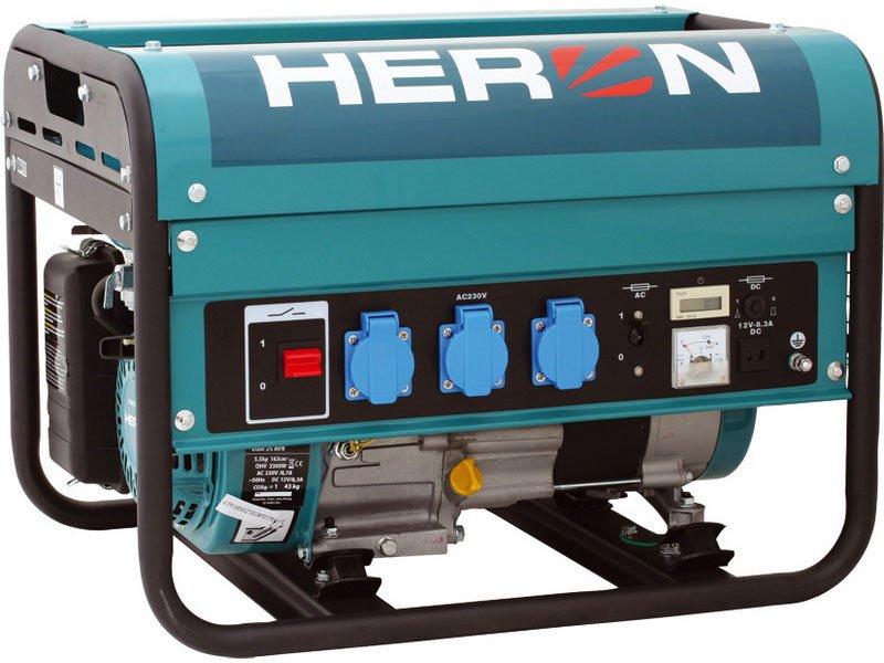 elektrocentrála benzínová 5,5HP, 2,3kW, HERON, EGM 25 AVR (Doprava ZDARMA)