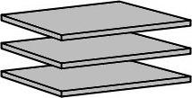 Police 905 ( 3 ks ) do skříně, šířka 87 cm