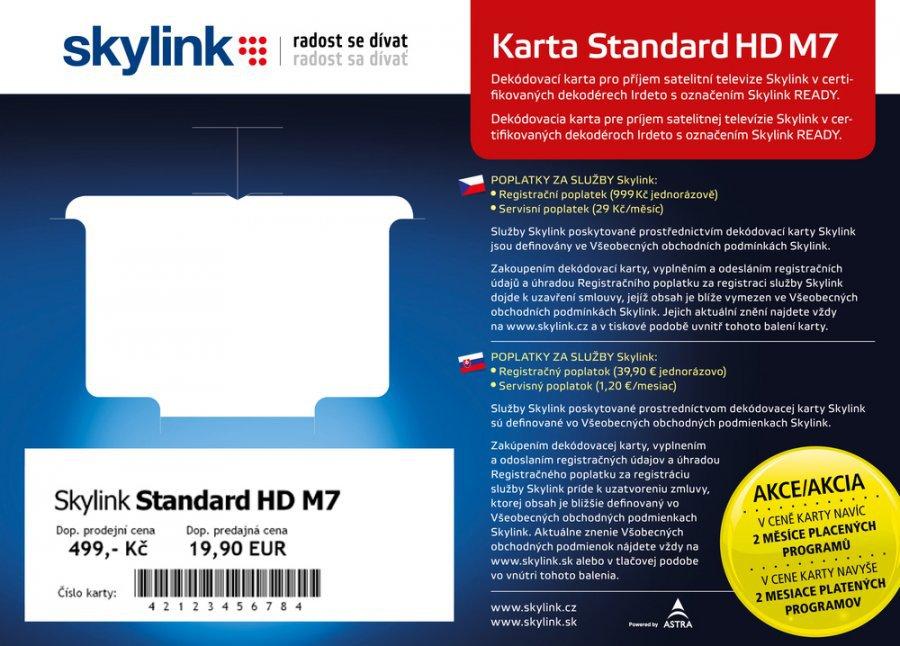 cd754fe7f SKYLINK Satelitní dekódovací karta Skylink standard HD M7 ...