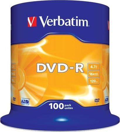Verbatim DVD-R 4,7GB 100ks