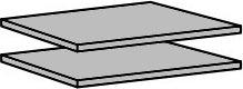 Police 904 ( 2 ks ) do skříně, šířka 87 cm