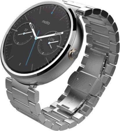 23226e13c30 Hodinky Motorola MOTO 360 Chrome - kovový řemínek - Chytré hodinky ...