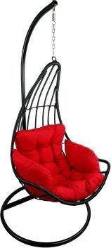 Závěsné relaxační křeslo ELZA - červený sedák ETP-DL01HT-C