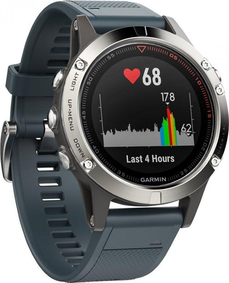 GARMIN GPS chytré hodinky fenix5 Silver Optic a91ce39e972