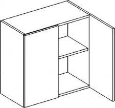 W60 horní skříňka dvojdvéřová PREMIUM de LUX hruška