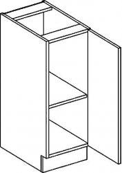 D30P dolní skříňka jednodvéřová PREMIUM hruška