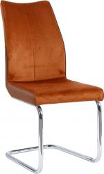 Pohupovací jídelní židle FARULA, cihlová/chrom