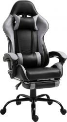 Kancelářské herní křeslo TARUN s podnoží, černá/šedá