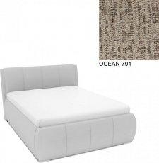 Čalouněná postel AVA EAMON UP 160x200, s úložným prostorem, OCEAN 791