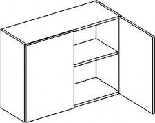 W80 horní skříňka dvojdvéřová POSNANIA