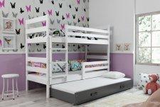 Patrová postel s přistýlkou Norbert bílá/grafit