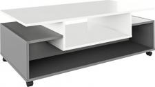 Konferenční stolek DALEN pojízdný, bílá/grafit