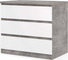 Komoda Simplicity 235 beton/bílý lesk
