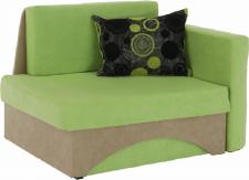 Rozkládací křeslo KUBOŠ, s úložným prostorem, pravá, zelená/béžová