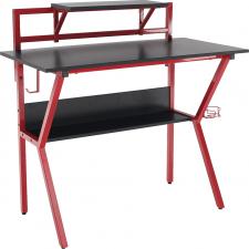Dětský psací stůl TABER černá/červený kov