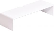 Podstavec pod monitor, bambus, bílá, ELARO TYP 1