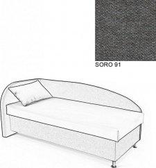 Čalouněná postel AVA NAVI, s úložným prostorem, 90x200, levá, SORO 91