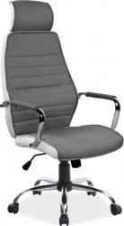 Kancelářská židle Q-035 šedá/bílá