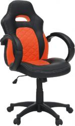 Kancelářské křeslo NELSON, ekokůže černá/oranžová