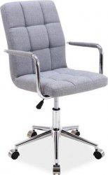 Kancelářská židle Q-022 šedá látka