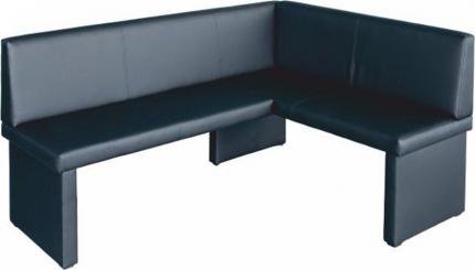 Rohová jídelní lavice MODERN pravá, ekokůže černá