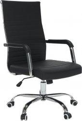Kancelářská židle FARAN, ekokůže čern /chrom