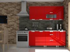 Kuchyňská linka Timothy RLG 180 cm, červený lesk