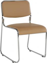 Konferenční židle BULUT stohovatelná, hnědá ekokůže