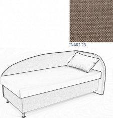 Čalouněná postel AVA NAVI, s úložným prostorem, 120x200, pravá, INARI 23