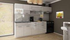 Kuchyňská linka Dolomiti 240 cm, bílý lesk