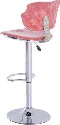 Barová židle DANTE červená/chrom