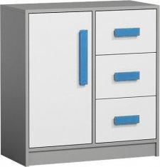 Dětská komoda GYT 7, antracit/bílá/modrá