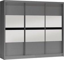 Šatní skříň BATUMI 250 grafit/grafit
