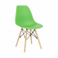 Plastová jídelní židle CINKLA 3 NEW, zelená/buk