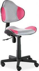 Dětská židle Q-G2 šedá/růžová