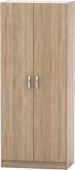 Šatní skříň BETTY 2, 2-dveřová, dub sonoma, BE02-003-00