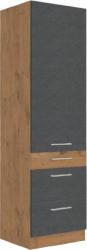 Potravinová skříň VEGA 60 DKS-210 3S 1F, šedá/dub lancelot
