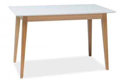 Jídelní stůl rozkládací BRAGA II bílá/buk
