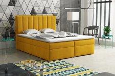 Čalouněná postel LUCINI BOX 140x200, s úložným prostorem, výběr látek