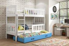 Patrová postel s přistýlkou Kuba bílá/modrá