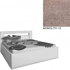 Čalouněná postel AVA LERYN 180x200, s úložným prostorem a LED osvětlením, MONOLITH 15