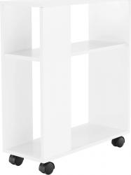 Odkládací stolek Zoela New pojízdný, bílá
