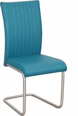 *Jídelní čalouněná židle PASSAU-753 tyrkys/ocel