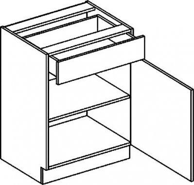 D60S/1 dolní skříňka se zásuvkou BIANCA pravá