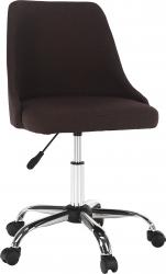 Designová kancelářská židle EDIZ, hnědá/chrom