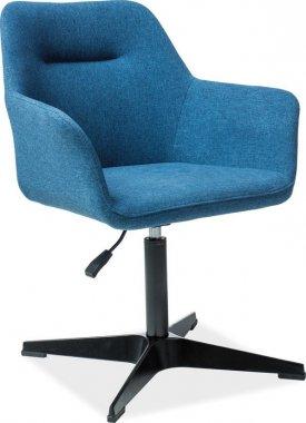 Jídelní čalouněná židle KUBO modrá