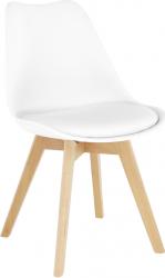 Jídelní židle BALI 2 NEW, bílá/buk