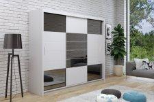 Šatní skříň ARUBA 2 250 bílá/grafit